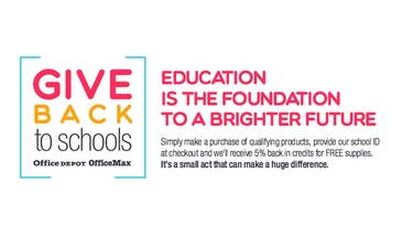 Office Max Give Back to School